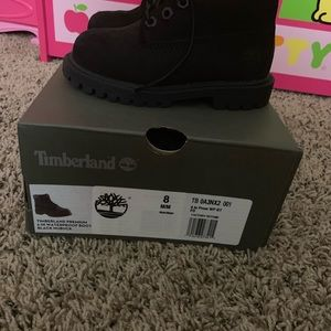 All black Toddler boots